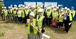 Rita Hawes Mayor of Ashford with Richard King, KCC after the sod turning ceremony at the new Singleton Environmental Centre, Cuckoo Lane, Ashford, Kent, 5th June 2007.